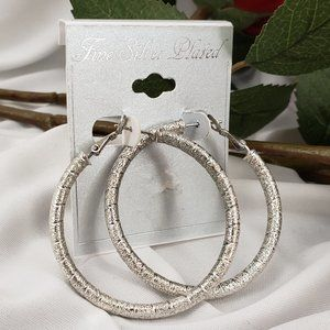 Beautiful Silver Plated Hoop Earrings NWT
